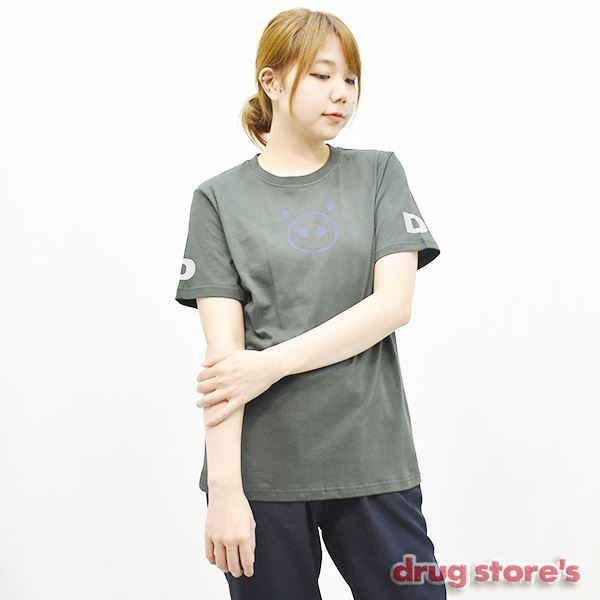 "drug store's T-SHIRT&SOXセット""ブタ顔ソデDS"" Tシャツ"