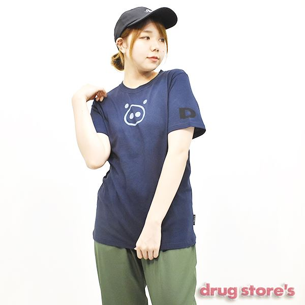 "drug store's 21/天竺""ブタ顔ソデDS"" Tシャツ"
